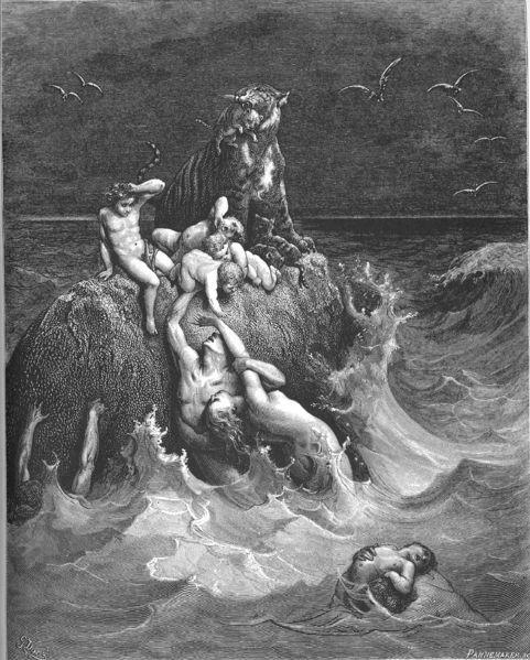Den store flommen av Gustav Doré