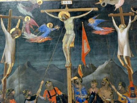 -Korsfestelsen- (ca.1330)av Giotto. Foto-hansolavarnesen