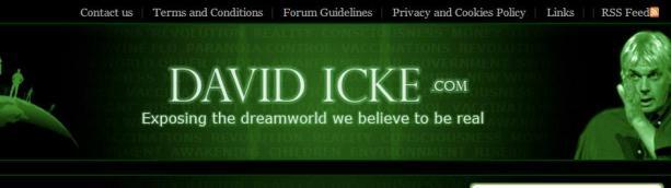 David Icke mener verden kontrolleres av hamskiftende reptiler, men kun 4 % av den amerikanske befolkningen er enig med ham. Digitalfaksimile: davidicke.com