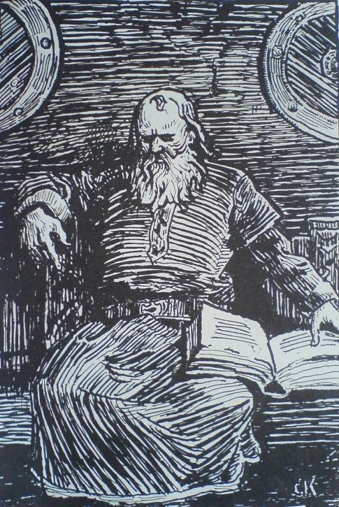Snorre Sturlason, slik Christian Krogh så ham - Wikimedia Commons.
