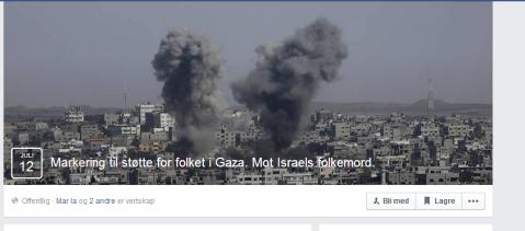 mot israels folkemord.