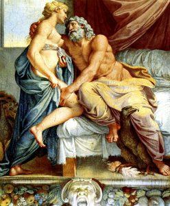 Zeus og Hera i bedre tider. Av Annibale Carracci - Wikimedia Commons