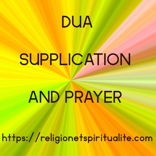 Title image of DUA,  SUPPLICATION AND PRAYER