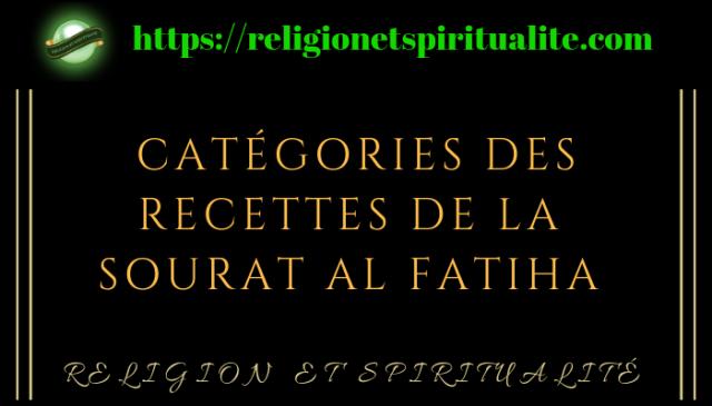 FATIHA et recettes du Coran