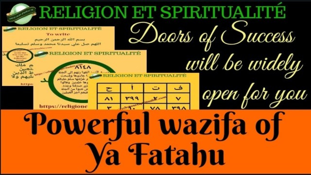 DOORS OF SUCCESS WILL BE WIDELY OPEN WITH THE DHIKR OF YA FATAHU
