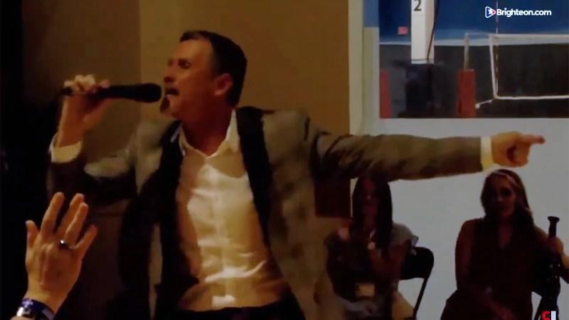Pastor Greg Locke speaks at Bards Fest in St. Louis. Video screengrab