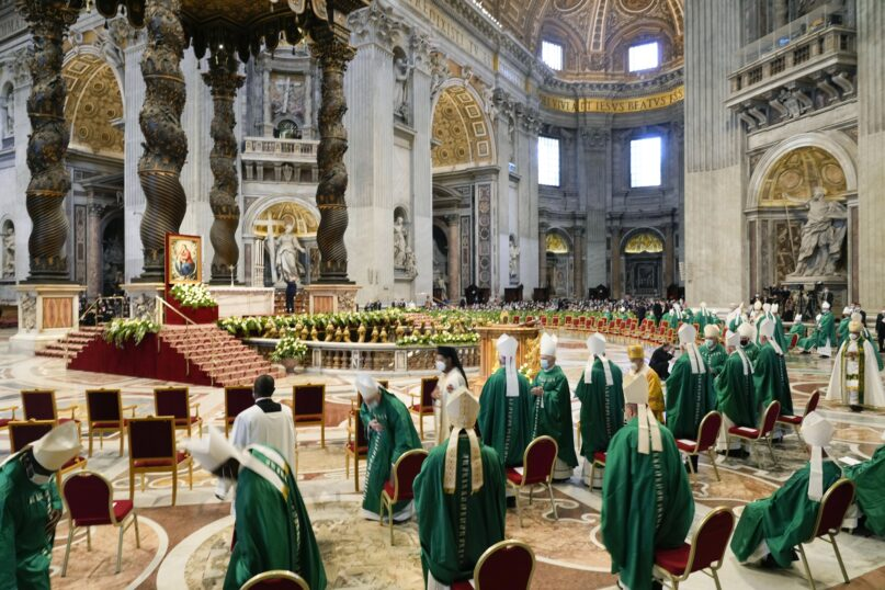The Catholic Church's two-year synodal process formally opened Oct. 10 at the Vatican. (AP Photo/Gregorio Borgia)