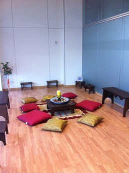 Meditation space in a 'silent room' in a Spanish hospital