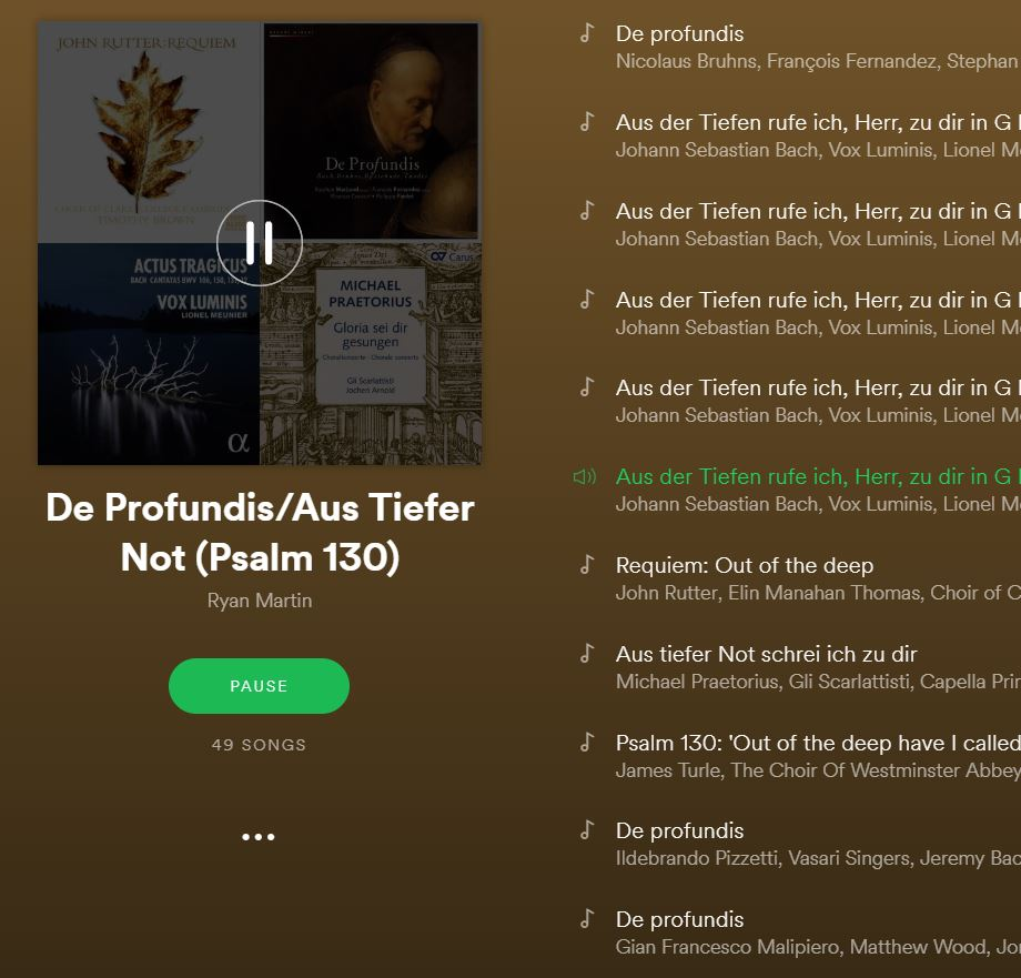 Psalm 130 in the Hands of the Great Composers