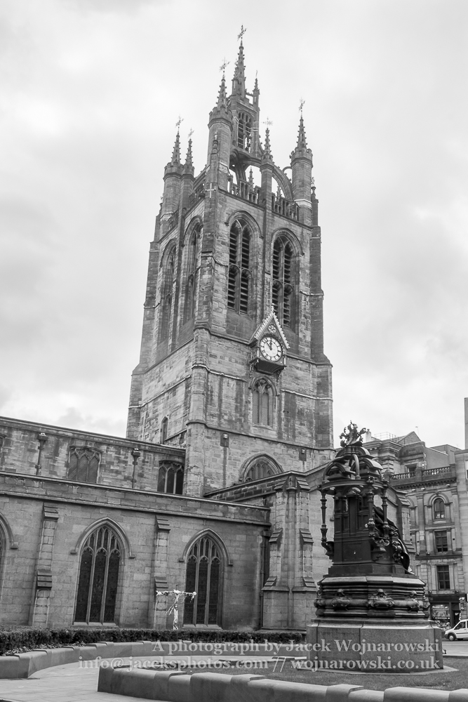 Newcastle Cathedral, Cathedral Church of St Nicholas Black and white photography