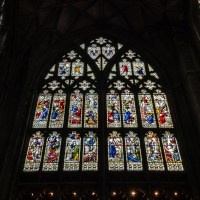 Gloucester Cathedral inside - stained glass A