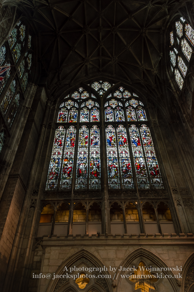 Gloucester Cathedral inside - stained glass B