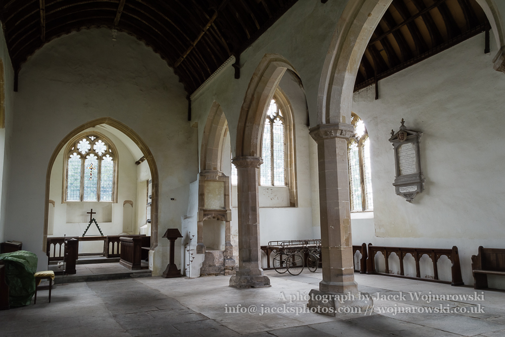 Charfield, St James Church, Wotton-under-Edge, medieval church inside A