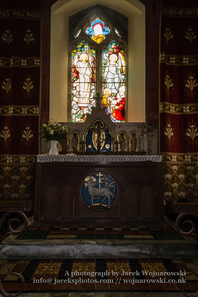 Ozleworth, St Nicholas of Myra, Norman Church Altar