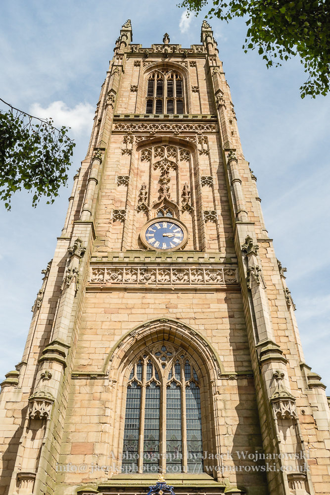 Derby Cathedral Tower A vertical photography