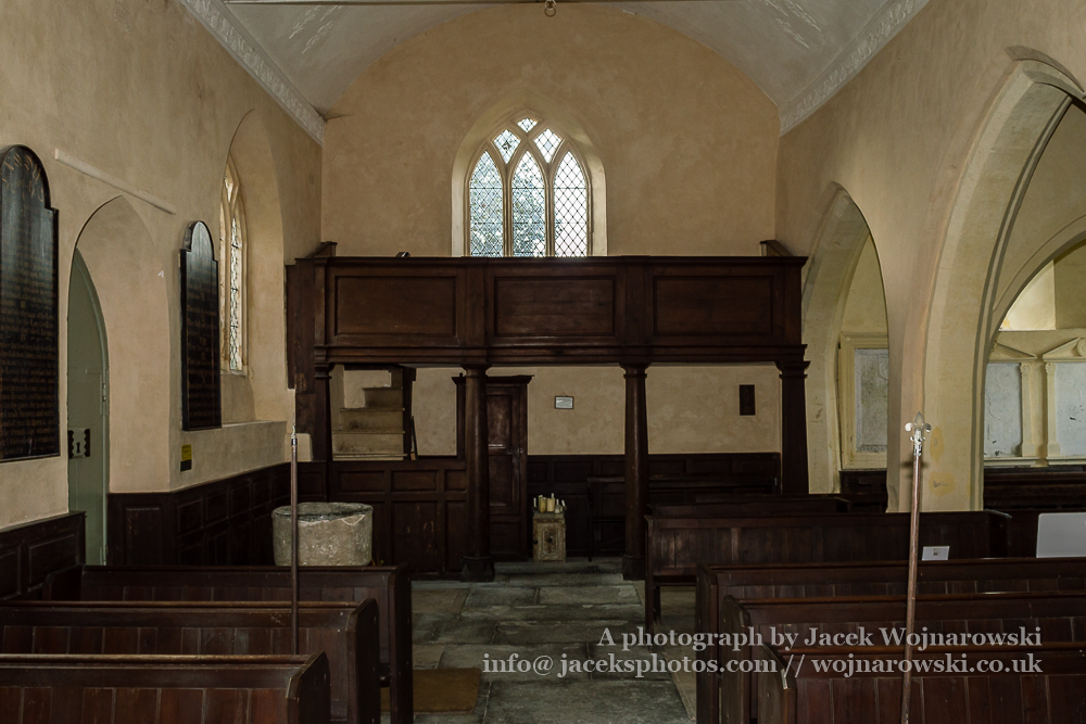 Georgian gallery of Church of The Blessed Virgin Mary in Somerset, England is medieval in origin but underwent extensive renovation in the 18th century