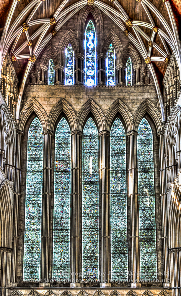 York Minster North Transept Stained Glass HDR