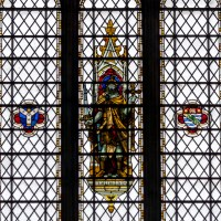 Bristol Cathedral Edward Colston Stained Glass Window close up B