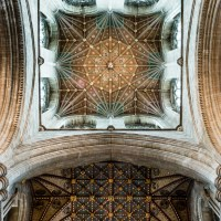 Peterborough Cathedral The Crossing Tower Ceiling