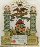 Certificate from Jewish Friendly Society in Glasgow, 1910