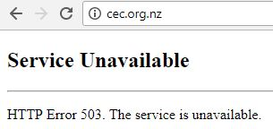 cec website offline
