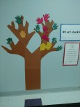 PreK classes explored what we are thankful for by creating a gratitude tree in the classroom.