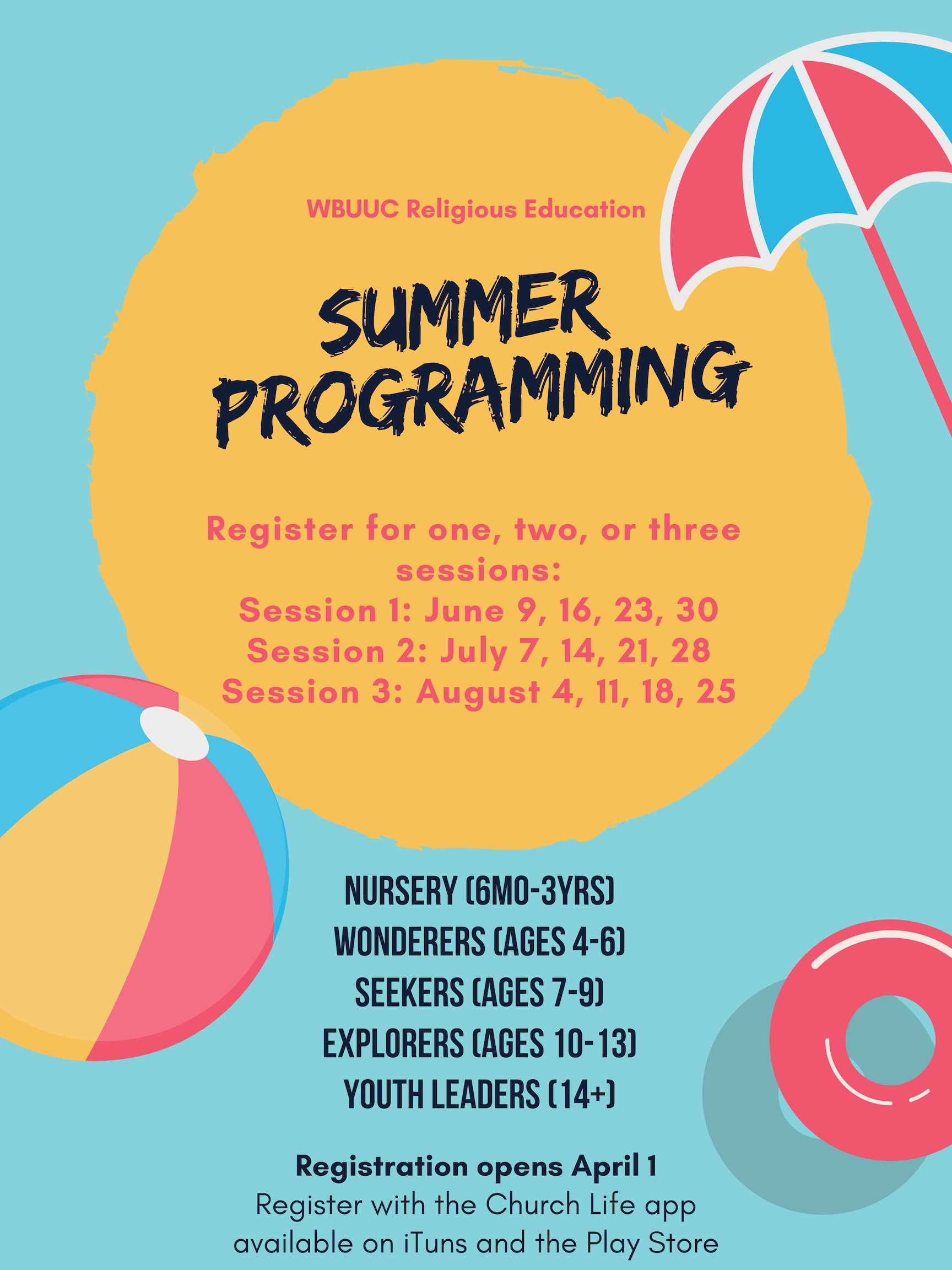 Summer Programming For Children And Youth Religious
