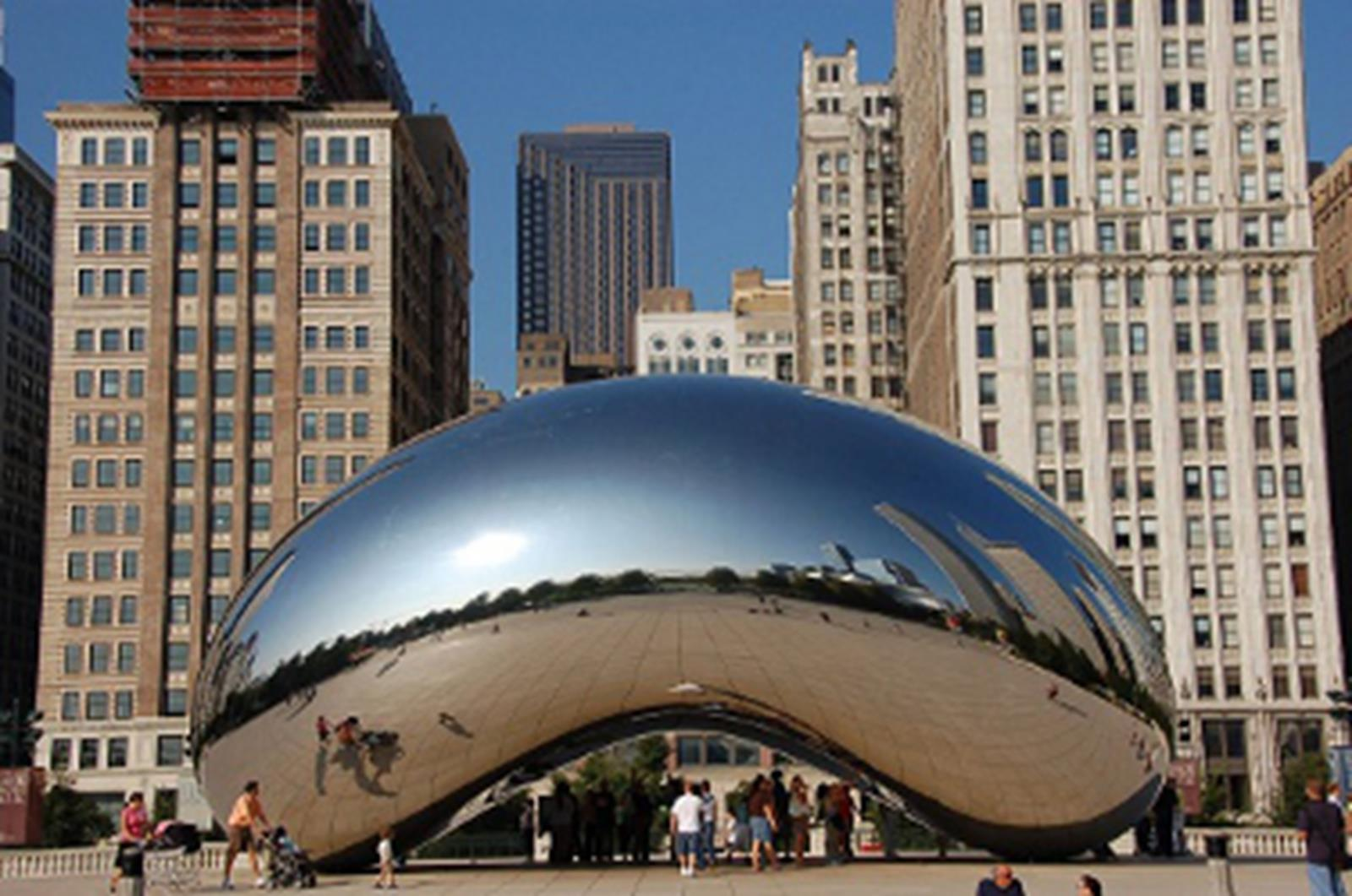 Get Immerse in Chicago s Cathedrals and Architecture Cloud Gate  or  the bean  at Millenium Park in Chiacago