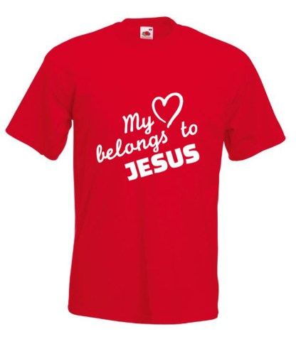 My Heart belongs To Jesus Red Tshirt
