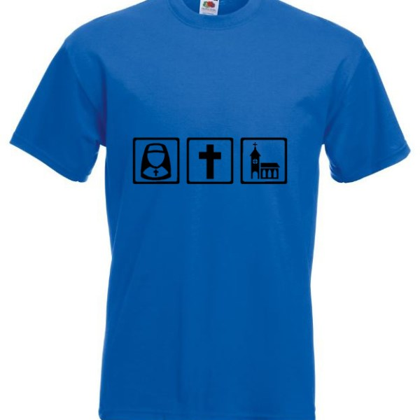 Nun Cross Church Blue Tshirt