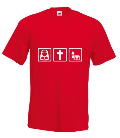 Nun Cross Church Red Tshirt