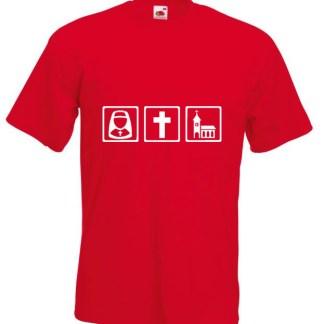 Nun Cross Church Red Tshirt