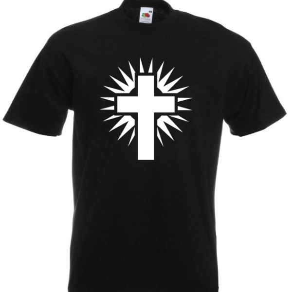 Shining Cross Black TShirt