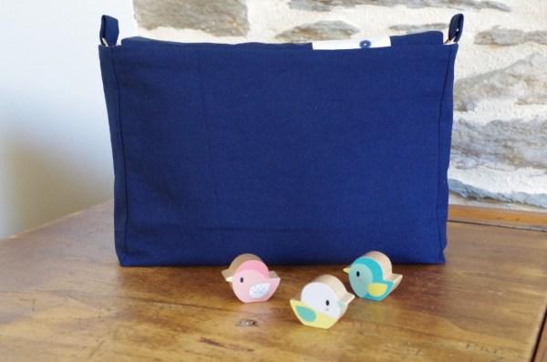 Mini-sac à langer vu de dos