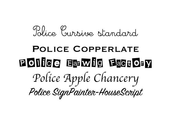 Différents types de police pour la personnalisation