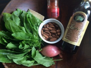 Spanish pesto ingredients!