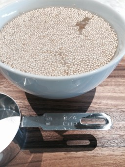 Soak the quinoa overnight