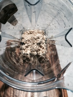 Add quinoa to your Vitamix or blender with all ingredients:)