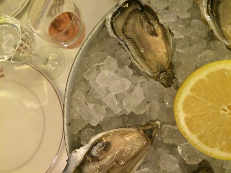 Oysters and champagne!