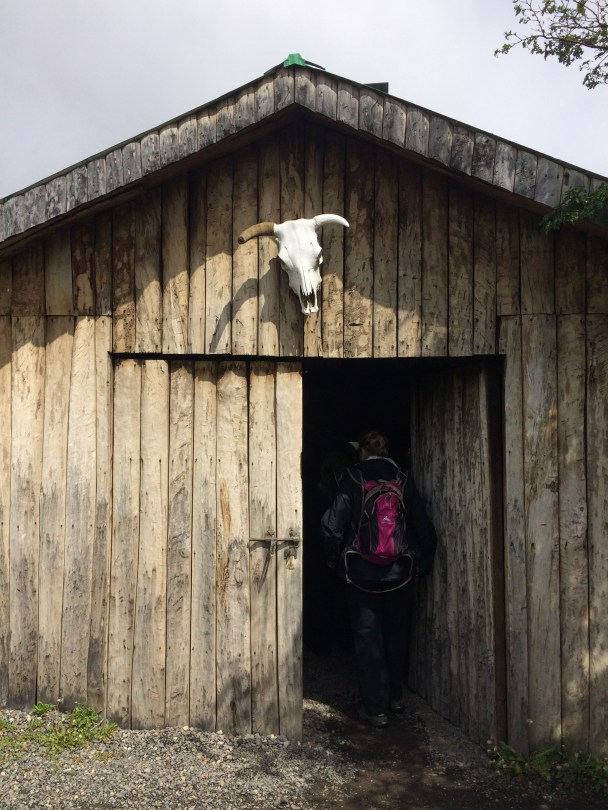 A wood heated cabin