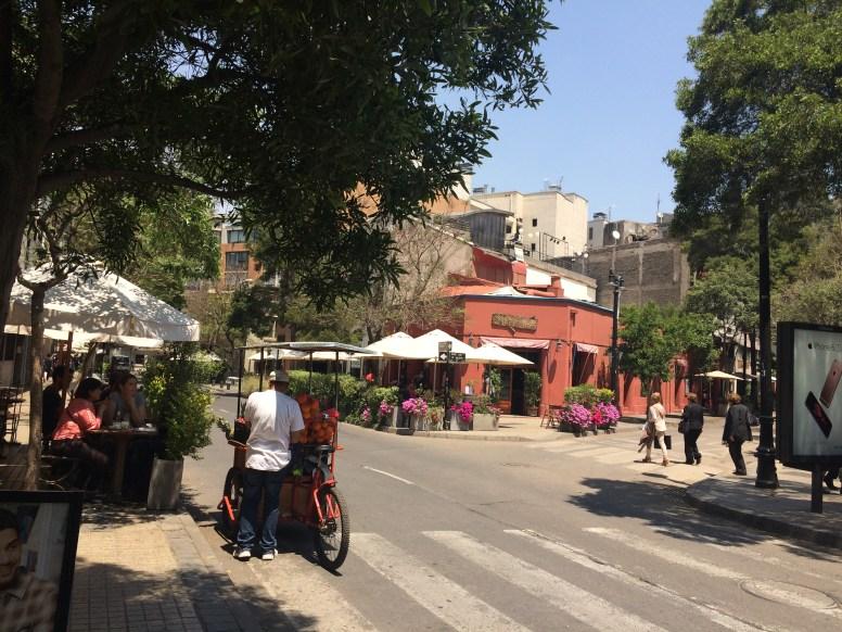 Lastarria street scene.