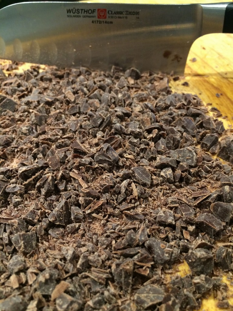 Chopped up chocolate chips!
