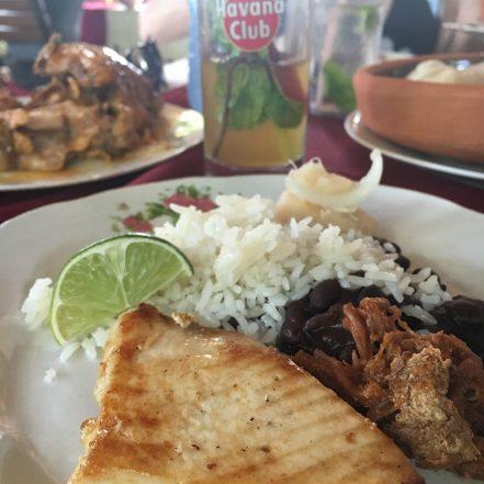 Swordfish, Rice and Beans