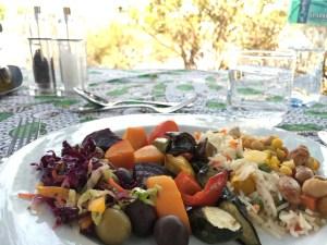 Lunch on an island on the Zambezi River