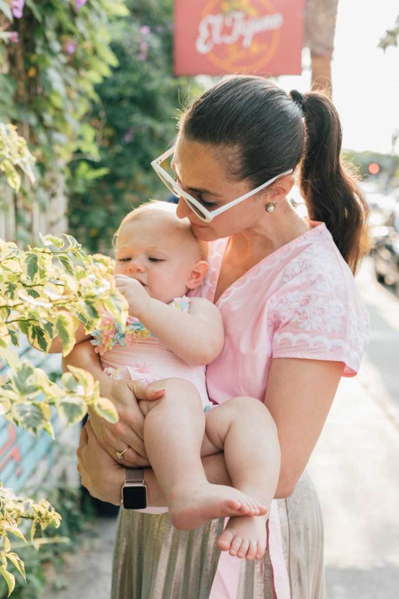 Los Angeles blogger, RELish By Arielle and her daughter share their matching pink outfits from Amazon and Madewell