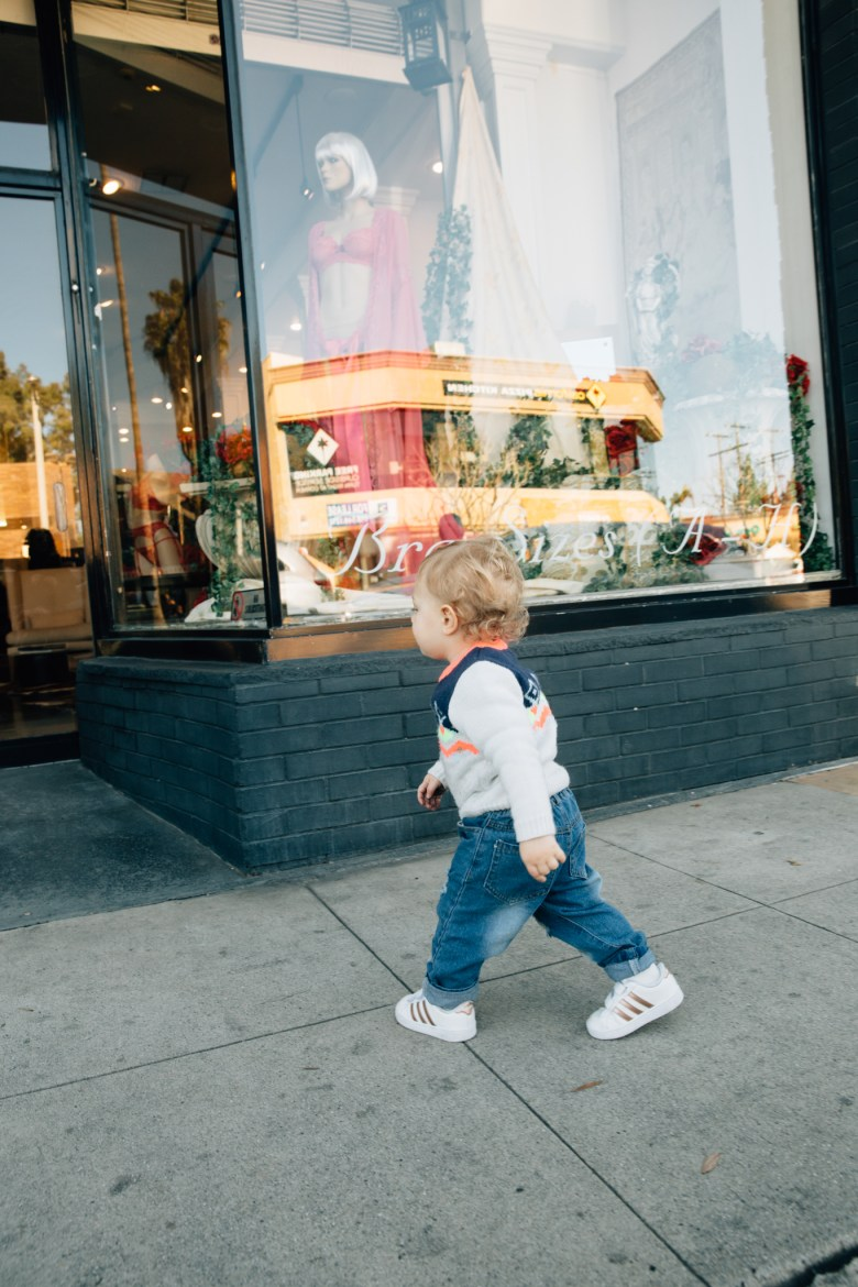 Los Angeles fashion blogger, RELish By Arielle's daughter wears a Target sweater