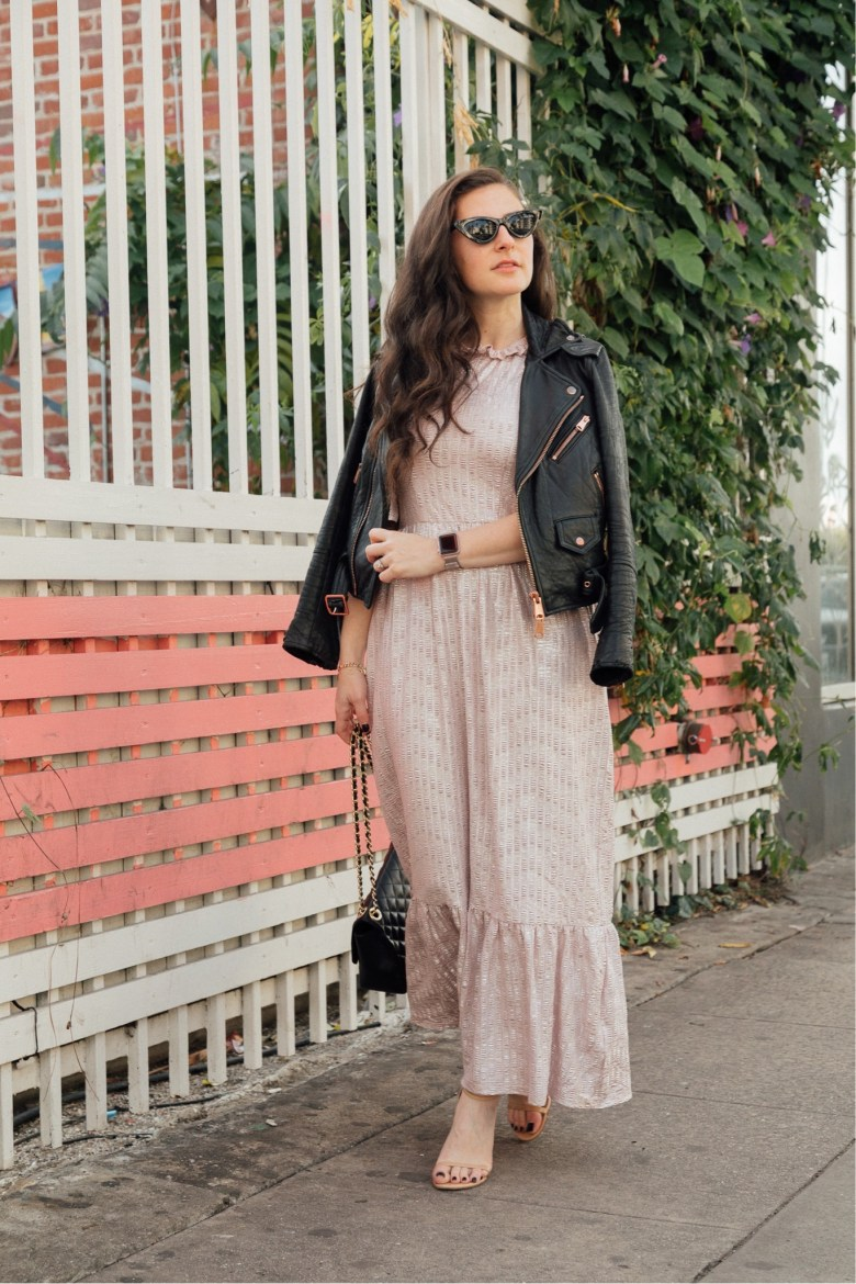 Los Angeles fashion blogger, RELish By Arielle wears an ASOS metallic dress