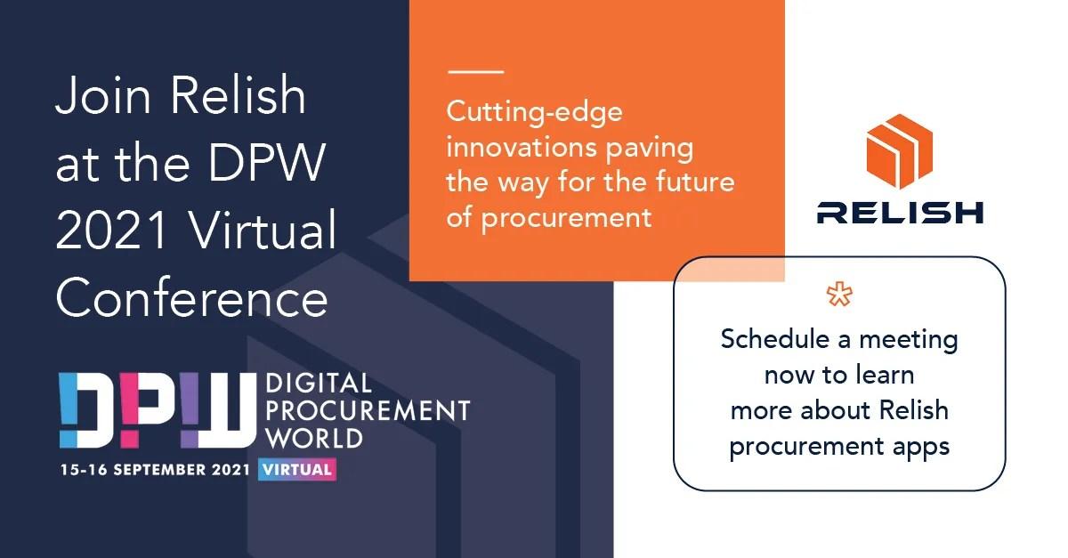 Relish at Digital Procurement World 2021 – Sept 15 & 16