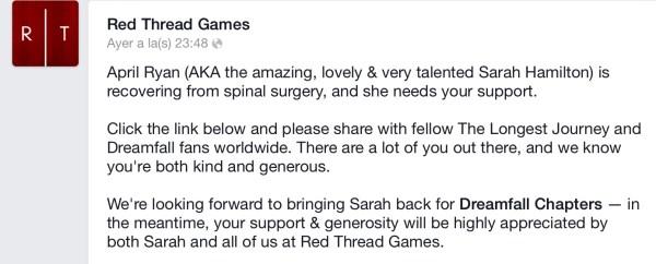 Facebook Red Thread Games