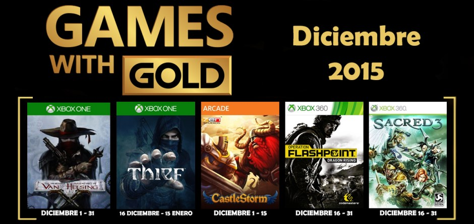 Games With Gold banne diciembre 2015